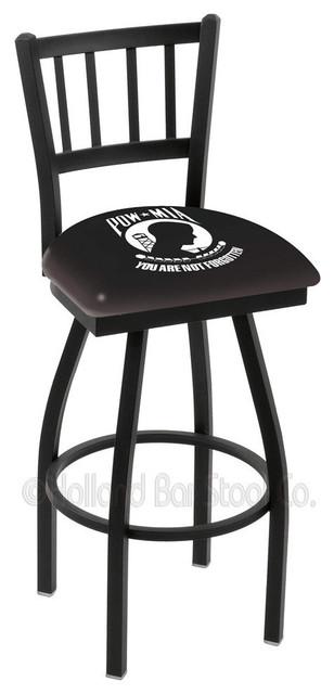 Holland Bar Stool L018 - Black Wrinkle Pow/MIA contemporary-bar-stools-and-counter-stools