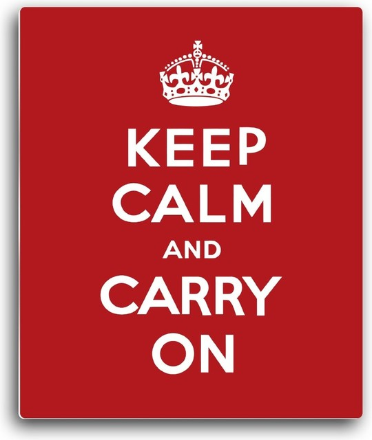 Alumapic, Keep Calm and Carry On, Classic Wall Plaque, Artwork Infused Into Alum modern-wall-decals