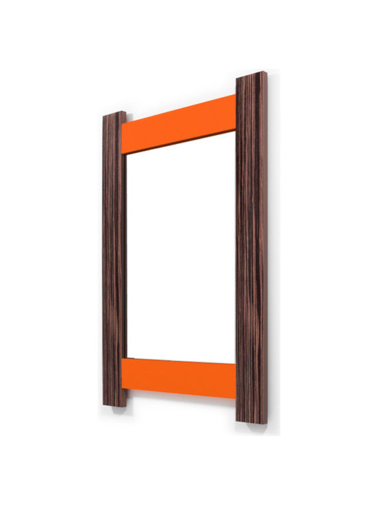 Contempo Ebony-Sunny Orange - If it is truly said that eyes are the reflection of our soul, wall mirrors are the reflection of our home. Why settle with dull frames that won´t share anything with us?