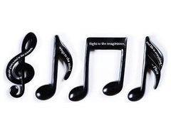 Musical Notes Plaque, Set of 4 traditional artwork