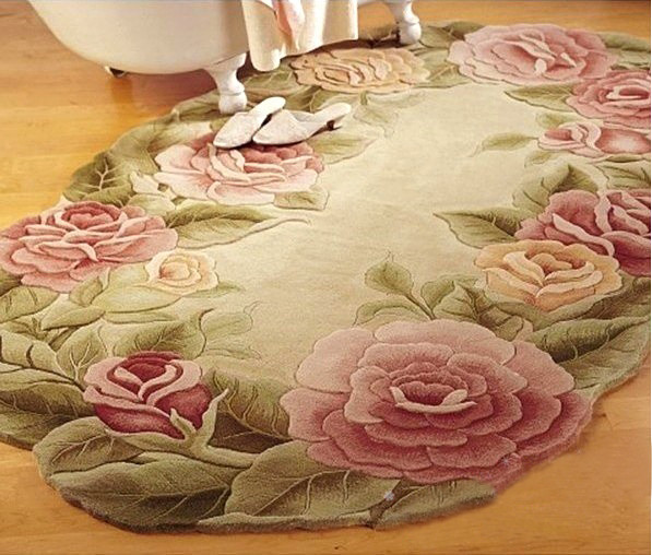 Flower shaped rug traditional-rugs