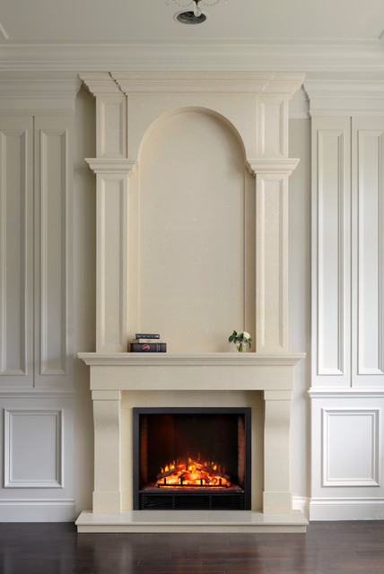 Chateau Over-Mantel contemporary-fireplace-mantels
