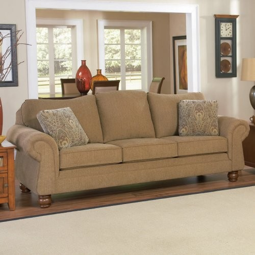 Charles Schneider Hurst Chestnut Fabric Sofa with Accent Pillows - Traditional - Sofas - by ...