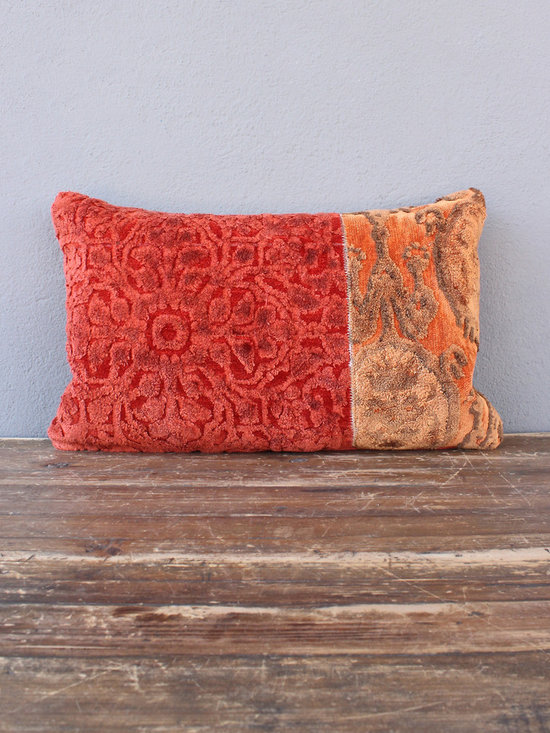 zither pillow – red + rust - view this item on our website for more information + purchasing availability: http://redinfred.com/shop/category/detail/throw-pillows/zither-pillow-red-rust/
