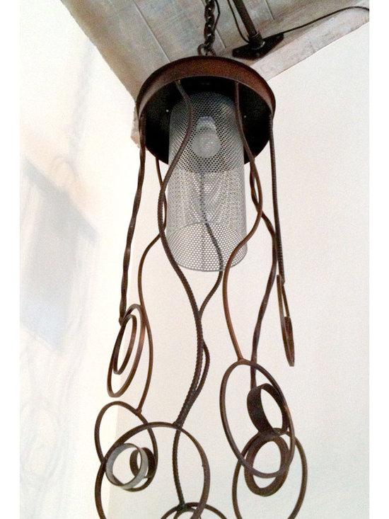 Chrysalis Light Sculpture, View from Below -