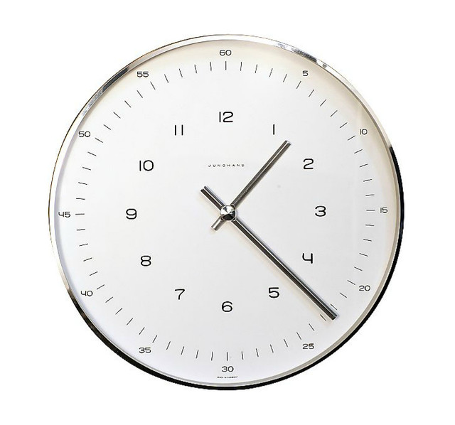 Max Bill Wall Clock with Numbers by Junghans modern-clocks