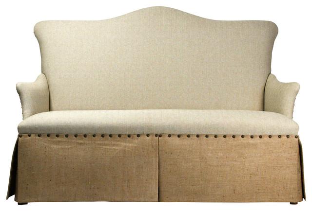 3 Seater Skirted Sofa traditional-sofas