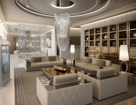 Luxury Designer Italian Chandeliers Modern Living Room