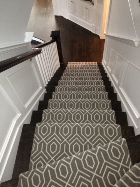 Geometric Stair Runner Modern New York By Michelle Winick Design