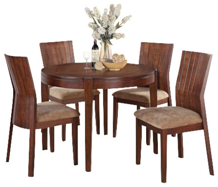 5 Piece Mauro Contemporary Country Kitchen Style Collection Dining Table Set Contemporary