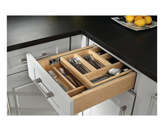 Two Tier Cutlery Divider - Your cutlery drawer works twice as hard for you with this two tier divider and drawer organizer.