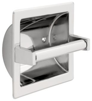 Liberty Hardware 607C F.B. GUEST ROOM ACCESSORIES 6.6 Inch Tissue Paper Holder modern-toilet-paper-holders