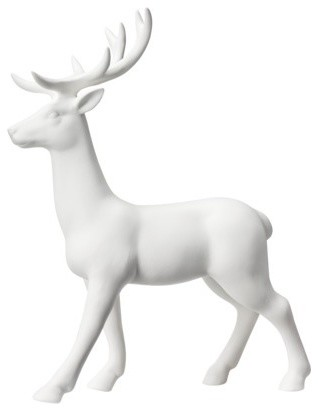 Threshold Ceramic Standing Deer Figural White