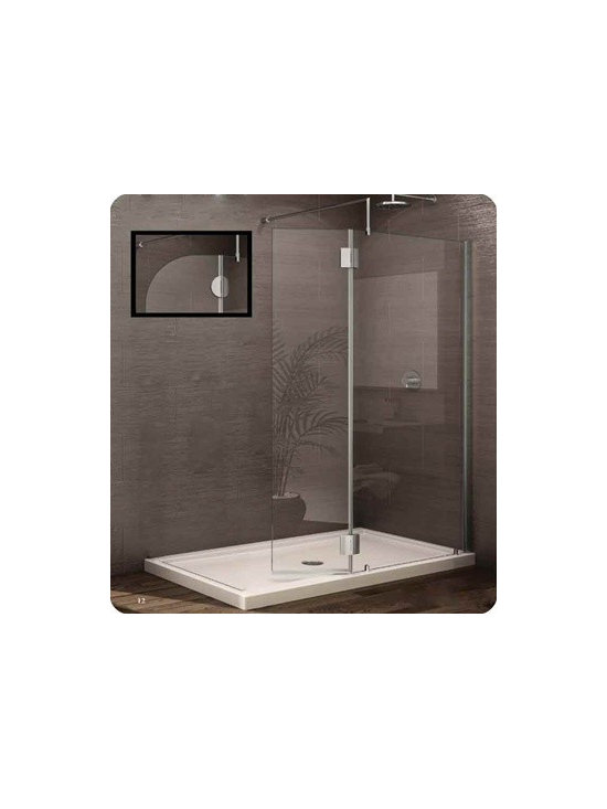 Fleurco Evolution 4' and 5' Square Walk-In Shower System VW4301 - European style support bars