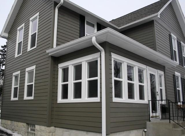 Gray House Siding With White Moldings James Hardie Fiber
