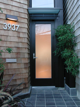 Modern Entry by Cary Bernstein Architect