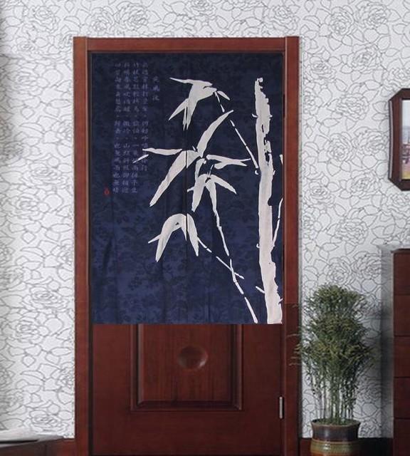 Noren Bamboo Batik Half Door Curtain Contemporary