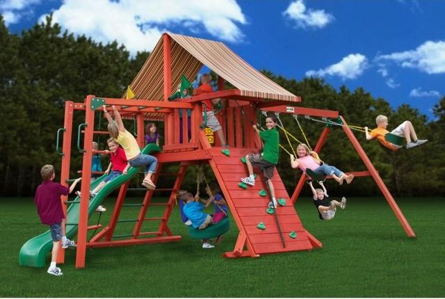 Gorilla playsets sun climber ii wood swing set with brannon redwood
