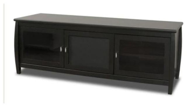 Veneto 60-Inch Black Finish LCD TV Stand w 2 contemporary-entertainment-centers-and-tv-stands