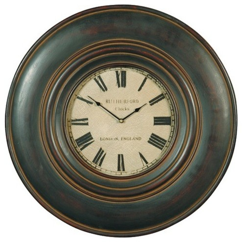 Uttermost - Adonis Wall Clock in Distressed Black - 06724 traditional-wall-clocks
