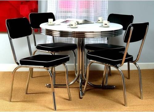Retro 5 Piece Dining Set modern-dining-tables