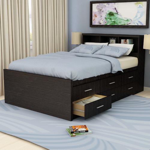 Modern Platform Storage Bed