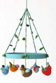 Birds Blabla Baby Mobile - Mediterranean - Kids Decor - by ...