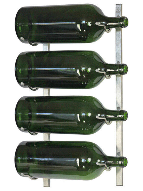 VintageView - VintageView 4 Bottle (3-6L) Metal Wine Rack in Brushed Nickel - Expand the convenience of your wall mounted wine rack system. Suitable for large bottles from 3-6 Liters. These metal wine racks are durable and elegant. Showcase your wine, not the rack. We are the #1 dealer of VintageView products in America. We back our position with unsurpassed customer service.
