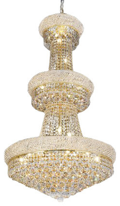 French Empire Crystal Chandelier Traditional Chandeliers By Gallery