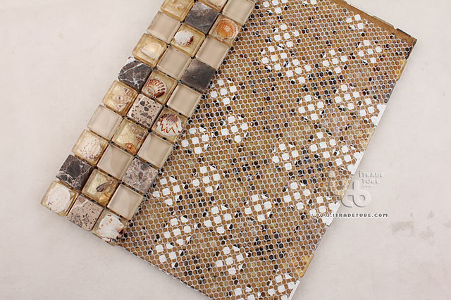Glass+Stone+Resin Shell Series IMGHC-099 modern-tile