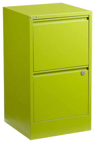 Bisley 2-Door File Cabinet, Green - Contemporary - Filing ...