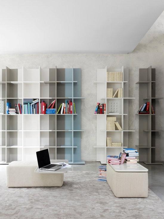Oka - Ligne Roset - Oka bookcase, Giro side table with tray.