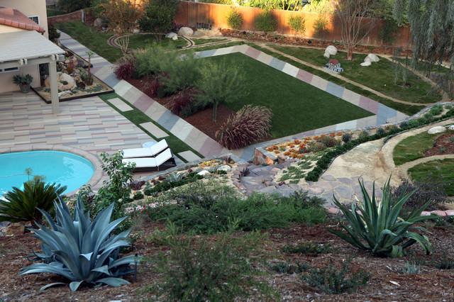 Landscape Garden Slope Ideas : Slope landscape and garden ideas mediterranean san