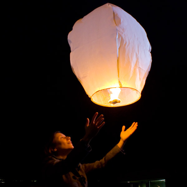 Sky Lanterns Mini Hot Air Balloon eclectic-outdoor-lighting