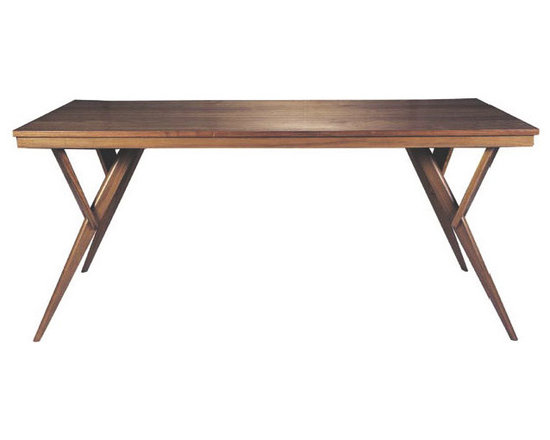 Fresno Modern Wood Dining Table Mid-Century Dining Table -