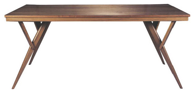 Fresno Modern Wood Dining Table Mid-Century Dining Table modern dining tables