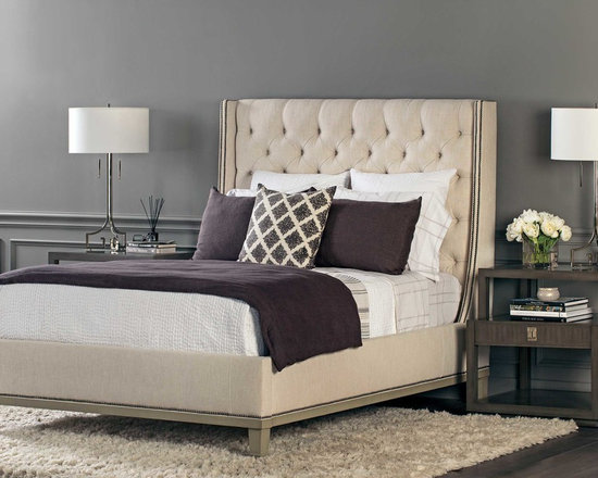 Cleo Bed - High Fashion Home - The sharply, tailored Cleo Bed just works in this classic contemporary setting.
