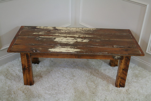 Sophisticated country barn board coffee table farmhouse for Barn board coffee table