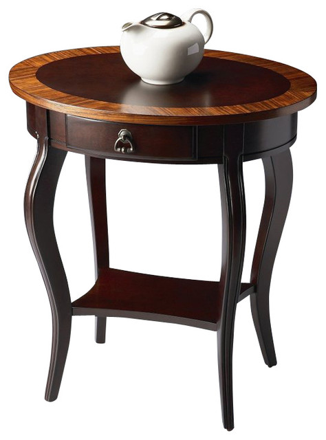 Butler Specialty Oval Accent Table in Cherry Nouveau Finish transitional-side-tables-and-end-tables