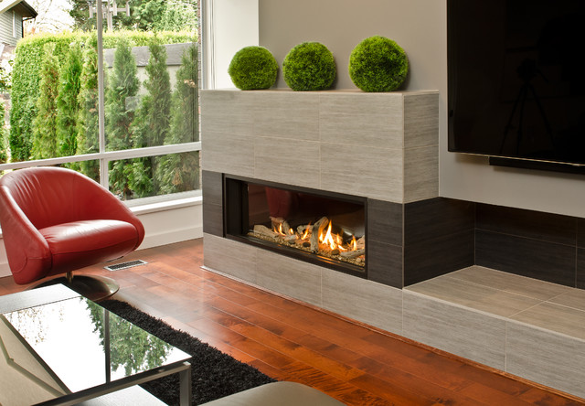 L2 linear series fireplace modern fireplaces vancouver by valor fireplaces - Contemporary linear fireplaces cover idea ...