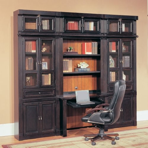 parker house oxford library wall bookcase with writing. Black Bedroom Furniture Sets. Home Design Ideas