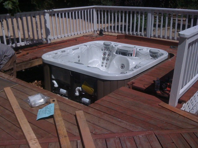 Hot tub installations traditional-swimming-pools-and-spas