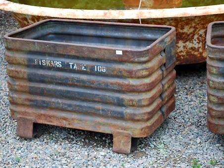 Industrial Fiskars Bins eclectic-outdoor-planters