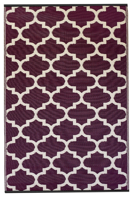 Tangier Rug, Plum & White (4' x 6') contemporary-rugs
