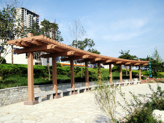 Wood plastic pergolas traditional other metro by for Pergola images houzz