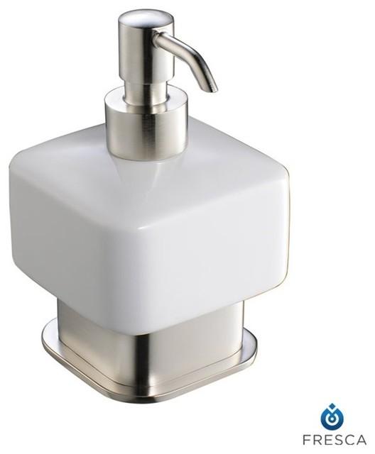 Fresca Solido Free Standing Ceramic Soap Dispenser modern-bath-and-spa-accessories