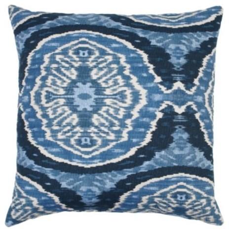 """Masala Pillow 24"""" - Indigo modern-bed-pillows"""