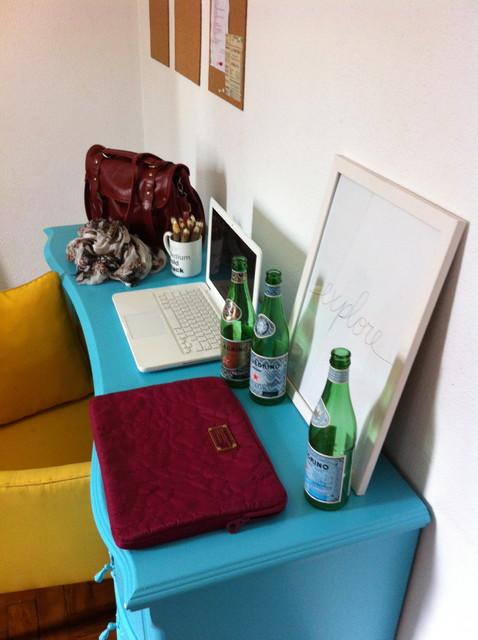 pop art eclectic-home-office