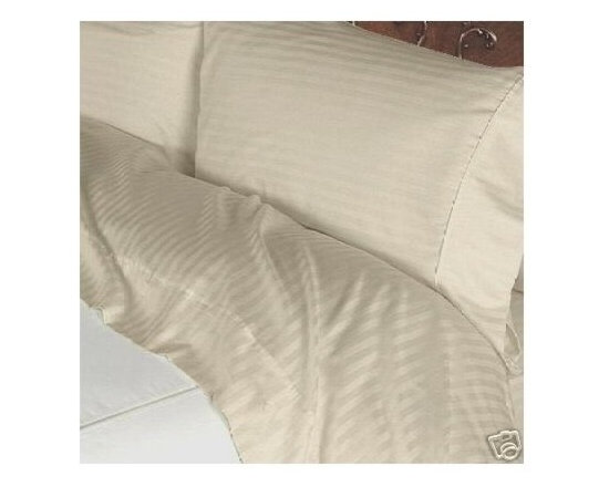 600TC Stripe Beige Flat Sheet & 2 Pillowcases - Redefine your everyday elegance with these luxuriously super soft Flat Sheet. This is 100% Egyptian Cotton Superior quality Flat Sheet that are truly worthy of a classy and elegant look.