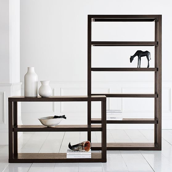... Tower | west elm modern bookcases cabinets and computer armoires